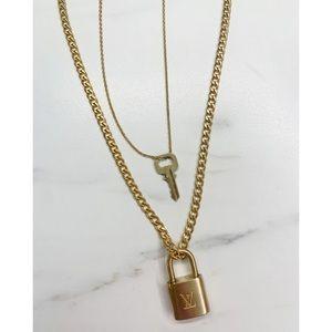 REPURPOSED 💓 Louis Vuitton Padlock Necklace set